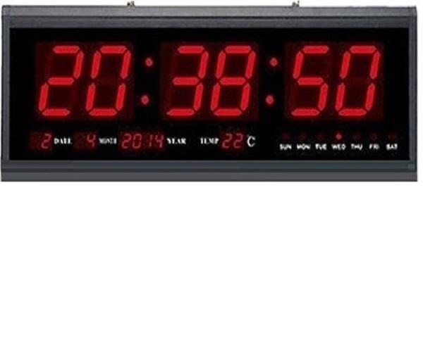 Μεγάλο Ψηφιακό Ρολόι Τοίχου – Πινακίδα LED με Θερμόμετρο και Ημερολόγιο  Jumbo Clock 350189d2184