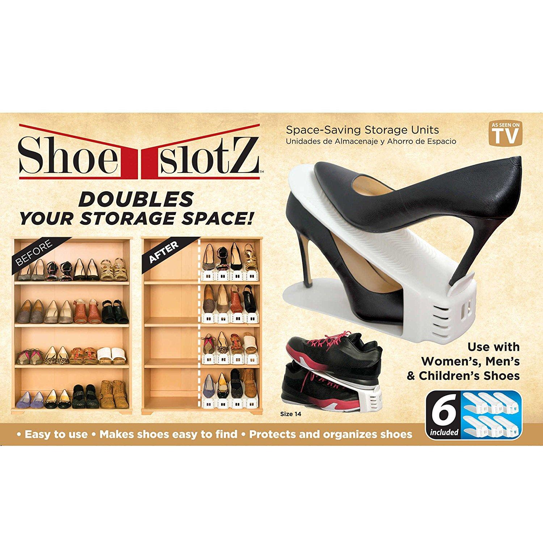f61307abc37 Οργανωτής Παπουτσίων Εξοικονόμησης Χώρου 6 Τεμάχια Shoe Slotz - MrClick